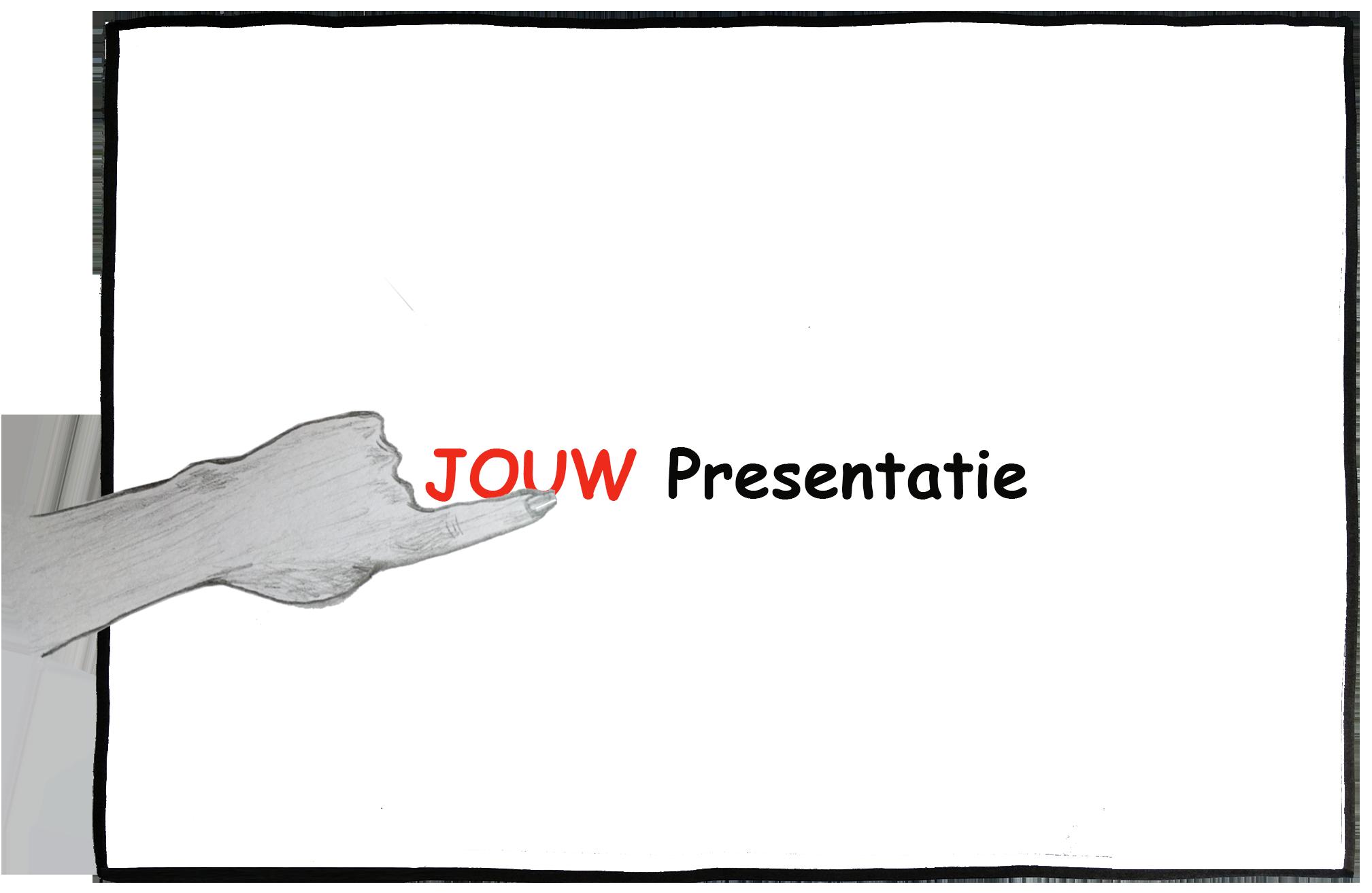 KLEIN website presenteren hand kader